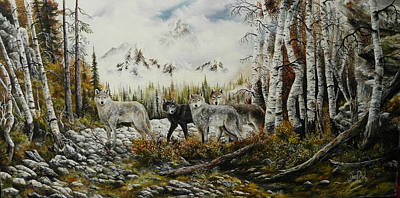David Paul Painting - Brothers by David Paul