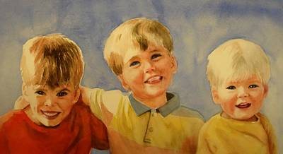 Brothers Print by Marilyn Jacobson