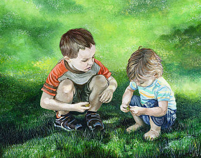 Squat Painting - Brothers by Michelle Sheppard