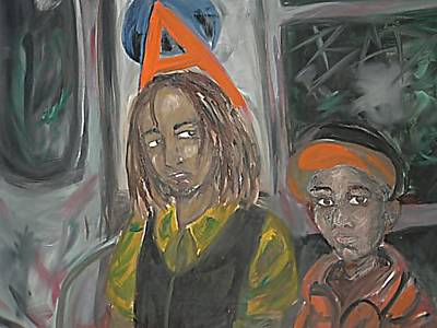 Abstract Lightart Painting - Brothers On The A by Bobby Wilkins III