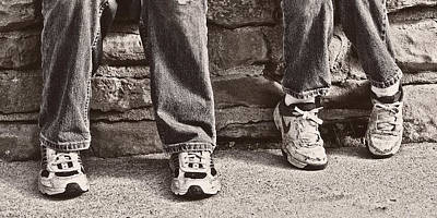 Tennis Shoes Photograph - Brothers by Tom Mc Nemar