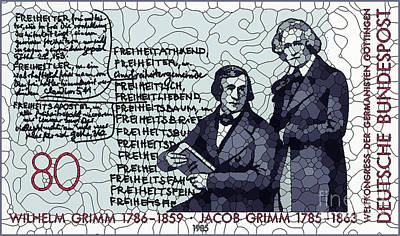 Painting - Brothers Wilhelm And Jacob Grimm by Lanjee Chee