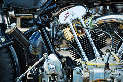 Photograph - Brough Superior Jap Engine by Tim Gainey