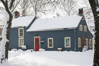 Photograph - Brougham Cottage After The Snow Storm by Kenneth Cole