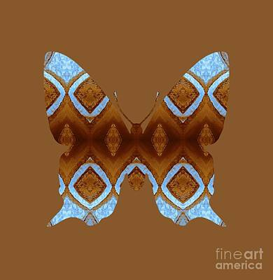 Digital Art - Brown And Blue Butterfly by Rachel Hannah