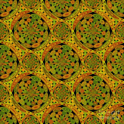 Brown And Green Circles Art Print