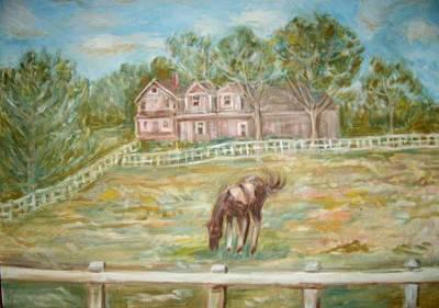 Brown And White Horse Art Print by Joseph Sandora Jr