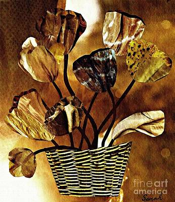 Mixed Media - Brown Arrangement by Sarah Loft
