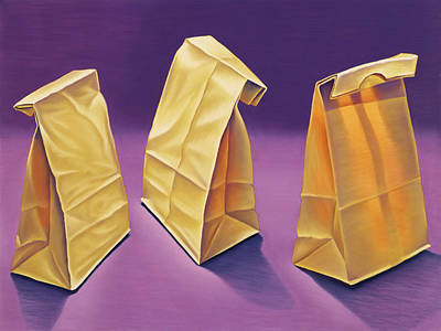 Painting - Brown Bag Trio by Gema Lopez
