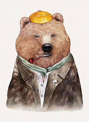 Painting - Brown Bear by Animal Crew