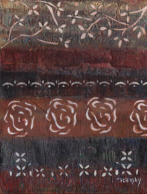 Painting - Brown Black Textured Original Art by Patricia Cleasby
