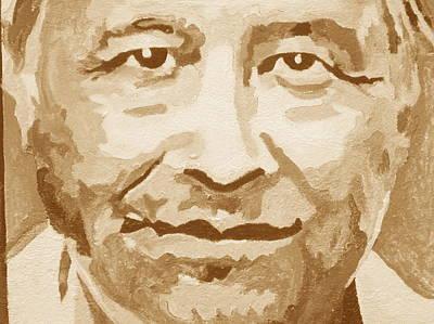 Cesar Chavez Painting - Brown Cesar by Randy Segura