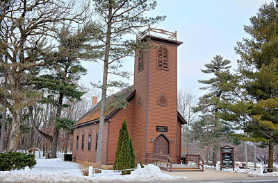 Photograph - Brown Church Winter by Bonfire Photography