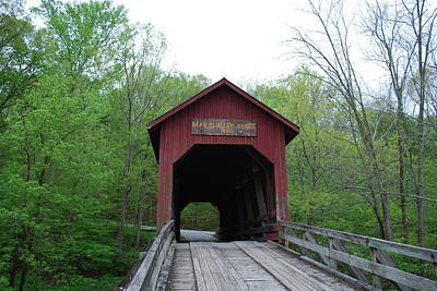 Photograph - Brown County Covered Bridge by Beverly Cazzell