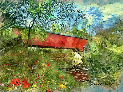 Brown County, Indiana - Covered Bridge Art Print by Dave Lee