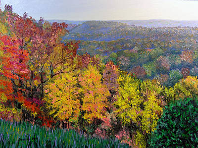 Brown County Vista Art Print by Stan Hamilton