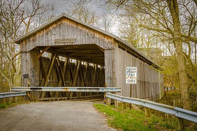 Music Royalty-Free and Rights-Managed Images - Brown Covered Bridge by Jack R Perry