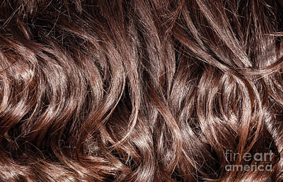Photograph - Brown Curly Hair Background by Anna Om
