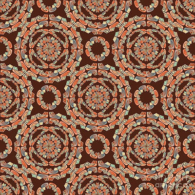 Brown Decorative Pattern Art Print