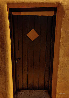 Photograph - Brown Door-santa Fe by Tim Bryan