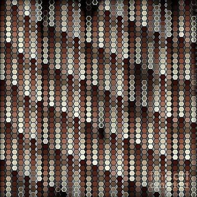 Wall Art - Digital Art - Brown Dot by Lisa Marie Towne