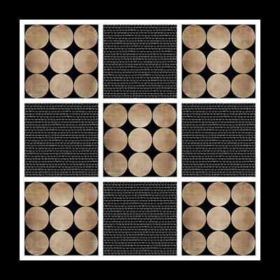 Digital Art - Rustic Dots Design by Patricia Strand