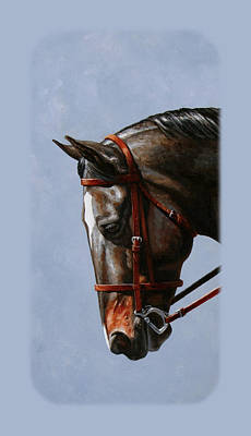 Bay Horse Painting - Brown Dressage Horse Phone Case by Crista Forest