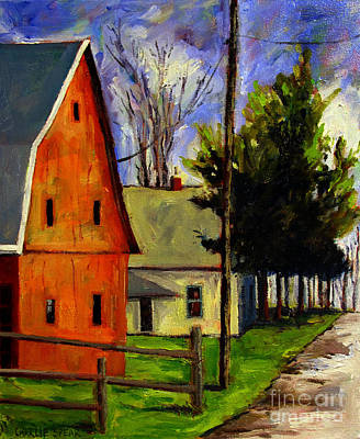 Indiana Landscapes Painting - Brown Egg Man by Charlie Spear