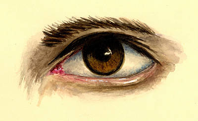 Eye Wall Art - Painting - Brown Eye by Michael Vigliotti