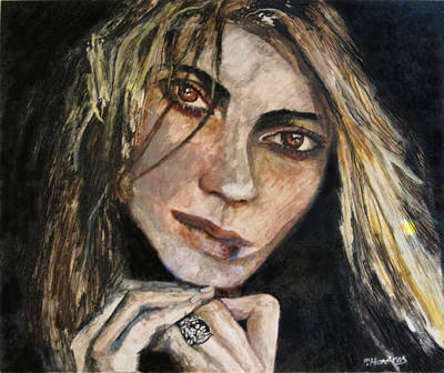 Painting - Brown Eyed Girl by Penfield Hondros