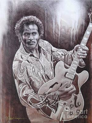 Chuck Berry Painting - Brown Eyed Handsome Man by Robert Hooper
