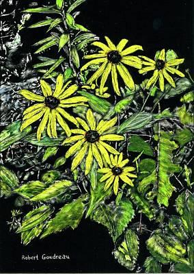 Painting - Brown-eyed Susans II by Robert Goudreau