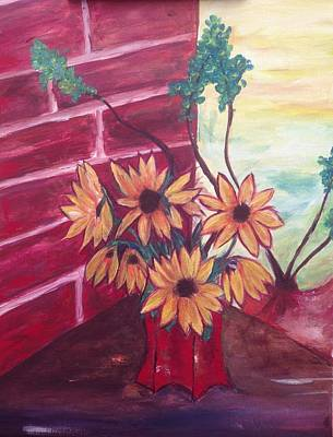 Flower Painting - Brown Eyed Susans by Roxy Rich