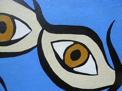 Painting - Brown Eyes by Beth Akerman