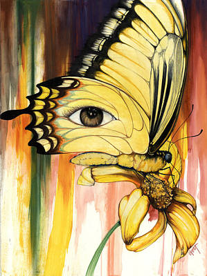 African-american Mixed Media - Brown Eyes Butterfly by Anthony Burks Sr