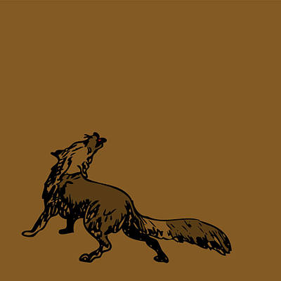 Forrest Drawing - Brown Fox by Karl Addison