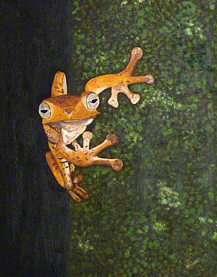 Painting - Brown Frog by Vivian Stearns-Kohler