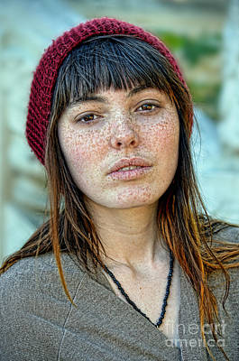 Photograph - Brown Haired And Freckle Faced Natural Beauty II by Jim Fitzpatrick