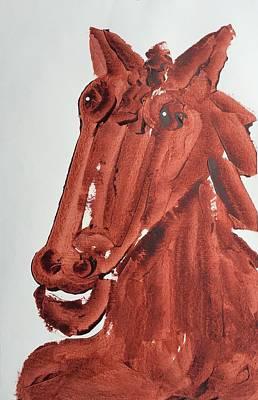 Painting - Brown Horse by Matthew Brzostoski