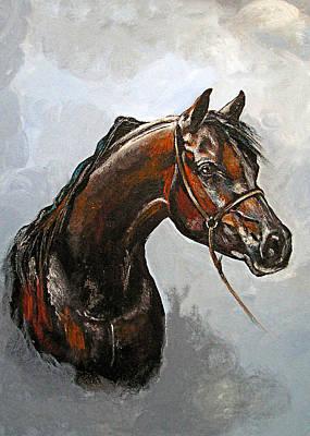 Photograph - Brown Horse by Munir Alawi