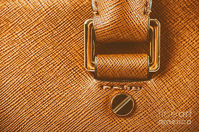 Leather Purses Photograph - Brown Leather Woman Bag Closeup by Radu Bercan
