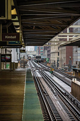 Photograph - Brown Line To Kimball by Anthony Doudt