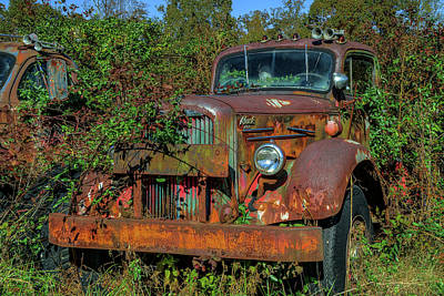Photograph - Brown Mack Truck by Jerry Gammon