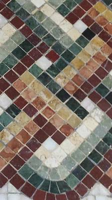 Photograph - Brown Mosaic Tile by Karen J Shine