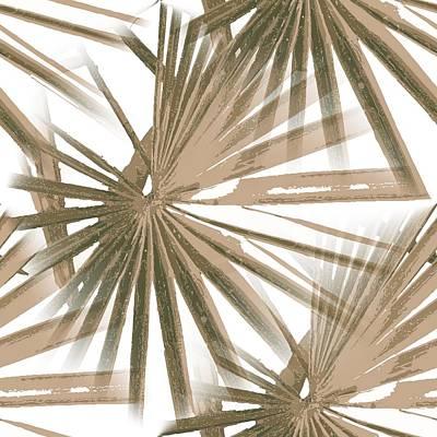 Digital Art - Brown On White Tropical Vibes Beach Palmtree Vector by Tracey Harrington-Simpson