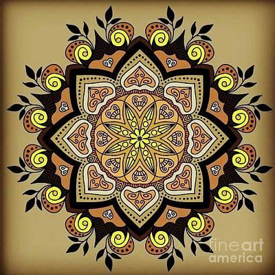 Digital Art - Brown Opal by Lisa Marie Towne
