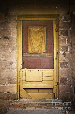 Photograph - Brown Rag Door by Craig J Satterlee