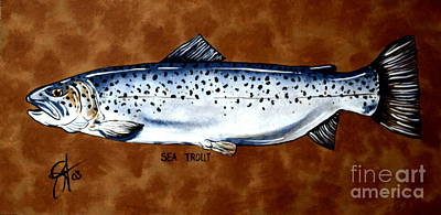 Painting - Brown Sea Trout  by Jackie Carpenter