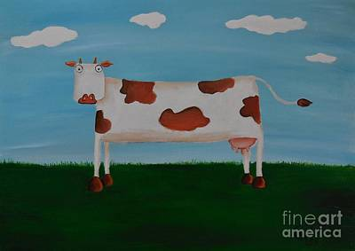 Brown Spotted Cow Art Print