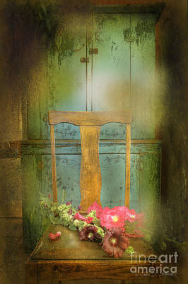 Photograph - Brown Straight Back Chair by Craig J Satterlee